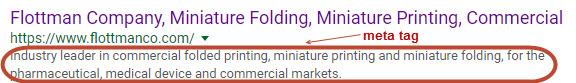 Flottman Company Meta Tag Example